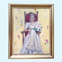 Joe (Joseph) Hennesy (1930's) Bride Signed By Listed Artist
