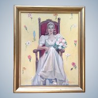Joe (Joseph) Hennesy (1930's) Bride Signed By Listed Artist