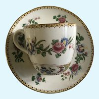 Polychrome Cup and Saucer Booths Silicon China England
