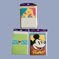 Hallmark Disney Mickey Mouse & Winnie the Pooh Thank You Cards 30
