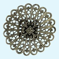 Circle Brooch Pin with Beautiful Designs