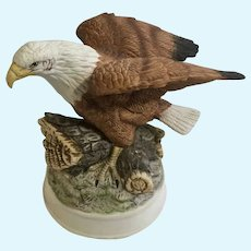 Birds in Flight Bald Eagle Bisque Figurine Limited Series Royal Heritage