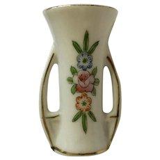Dollhouse Miniature White Two Handle Floral Vase Pico Japan