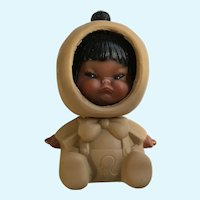 Three Face Eskimo Doll Hong Kong Happy Mad Crying 4-1/2""