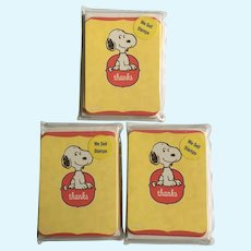 Hallmark Peanuts Snoopy Thank You Note Cards Set 28