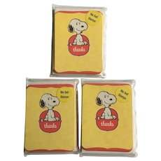 Hallmark Peanuts Snoopy Thank You Note Cards Set 28
