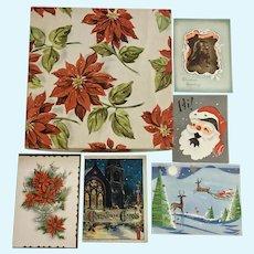 Mid-Century Christmas Box, Cards & Carols Ephemera Paper