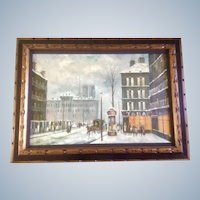 Anthony Veccio, Manhattan Twin Towers, Oil Painting Signed by Listed Artist
