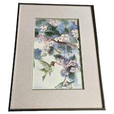 Barbara Mellblom, Hummingbird at Flowers Limited Edition Print