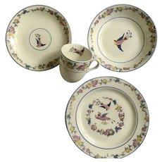 Vintage Bird Dish Set Carrollton China