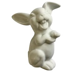 Rosenthal Max Fritz's Laughing Bunny Rabbit White Germany Porcelain Figurine