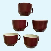 Mid-Century Modern Coffee Cups Bareuther Waldsassen Bavaria Germany