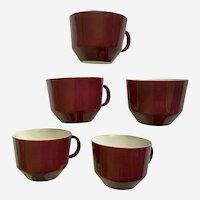 Mid-Century Modern Coffee Cups Bareuther Waldsassen Bavaria Germany