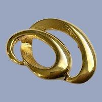 Napier Gold-Tone Ribbon Brooch Pin