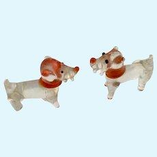 Vintage Miniature Tiny Glass Dog Figurines