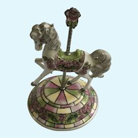 Rare Hamilton Collection Carousel Horse  Royal Delight Limited Edition Figurine