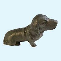 RB Ricker Bartlett Pewter Basset Hound Dog Figurine