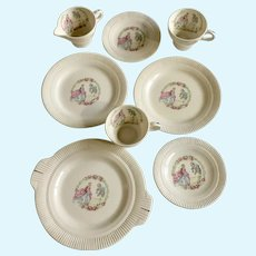 Minuet Dishes by Salem #60147 French Man & Woman with Fluted Edge