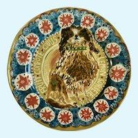 Cavalier King Charles Dog Anthropologie Cornelia O'Donovan Lemon Granita Plate