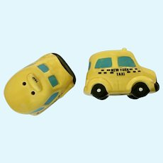 New York Taxi Cab Salt & Pepper Yellow Shakers