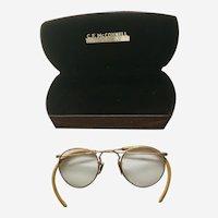 Grandpa's Spectacles Reading Glasses in Case Circa 1920's
