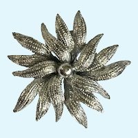 Gerry's Silver-tone Flower Pin Brooch