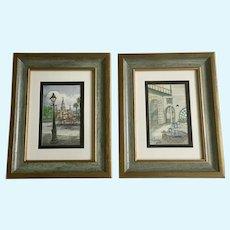 Sister Ann Roddy, New Orleans Street Scene Watercolor Paintings