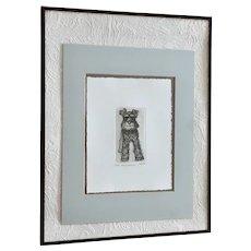 Marsha K Howe, Mini-Schnauzer Dog Etching Limited Edition Etching Print