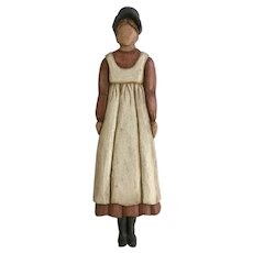Rachel, Primitive Folk Art Lady Wood Carving Wall Hanging