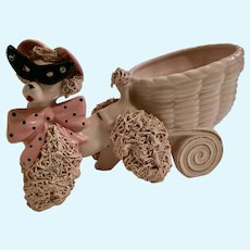 Mid-Century Napco Poodle Spaghetti Trim Dog Planter Sunglasses Figurine Japan