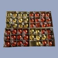 Vintage Miniature Glass Christmas Tree Bulb Ornaments