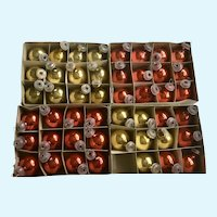 Vintage Miniature Glass Christmas Tree Bulb Ornaments