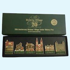 Dept 56 Dickens Village 20th Anniversary Series History Pins