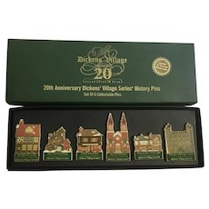 Dept 56 Dickens Village 20th Anniversary Series History Pins