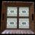Mid-Century Folk Art Green Tile Serving Tray