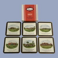 Vintage British Golf Clubs Pimpernel Coasters