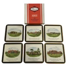 Vintage British Golf Clubs Pimpernel Coasters