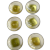 Gorgeous Lucite Yellow Gold Colored Buttons Vintage Set 6