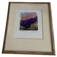 "Barbara Coast, Mixed Media Watercolor Painting ""Aspen Grove Pikes Peak Series,"" Works on Paper Signed by Artist"