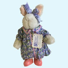 Hoppy Vanderhare The Sewing Lesson Stuffed Plush Animal Bunny 1993