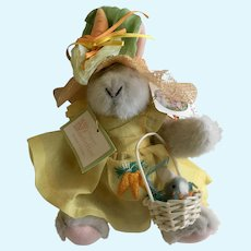 Hoppy Vanderhare Easter Fantasy Stuffed Plush Animal Bunny 1990
