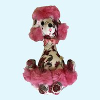 Mid-Century Pink Poodle Dog Plush Stuffed Animal Jee-Bee Creations
