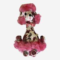Mid-Century Pink Poodle Dog Plush Stuffed Animal Jee-Bee Creations