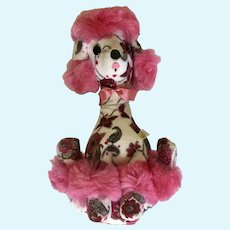 Mid-Century Pink Poodle Dog Plush Jee-Bee Creations