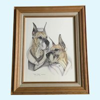 Susan (Sue) A. Rupp, Great Dames, Anthropomorphic Great Dane Dogs Print