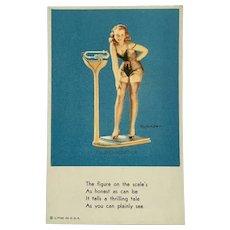 1951-54 Exhibits Pin Up Girl Litho USA Rare Collector Card