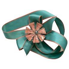 Godiva Chocolates Flower Ribbon Pin Candy Box Decoration