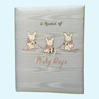 Mid-Century Baby Days Record Memory Book