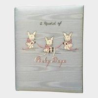 Mid-Century Baby Days Record Memory Book