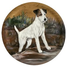 Jack Russell Terrier Dog Portrait Acrylic Painting